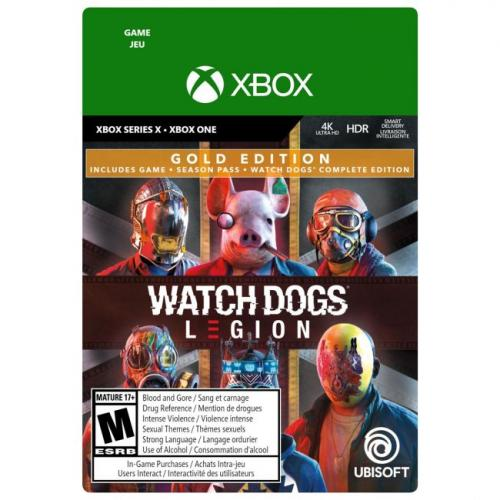 Watch Dogs: Legion Gold Edition Xbox Series X & Xbox One (Email Delivery) - For Xbox Series X & Xbox One - Email Delivery Code Only - ESRB Rated M (Mature 17+) - Single & Multiplayer Supported