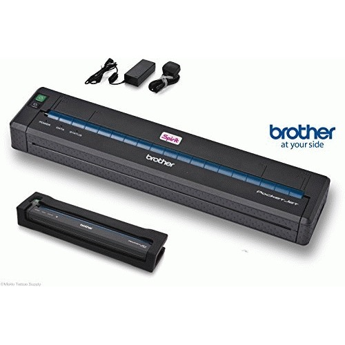 Brother PJ723-BK PocketJet Pj-723 - Basic Kit - Printer - Monochrome - Thermal Paper - A4/Legal - 300 x 203 Dpi - up to 8 PPM - USB 2.0, Black