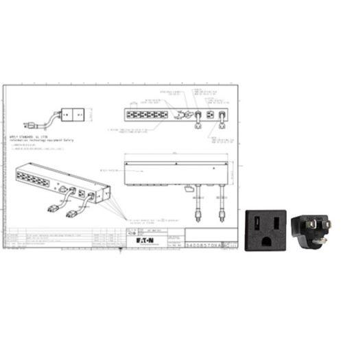 Eaton HotSwap MBP 6-Outlets 1.44kVA PDU