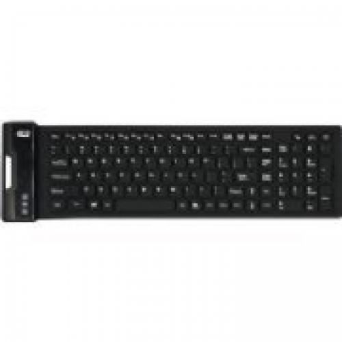 Open Box: Adesso AKB-222UB - SlimTouch 222 Antimicrobial Waterproof Flexible Keyboard for Windows 8/7/Vista/XP/2000