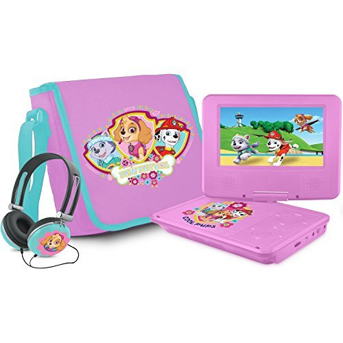 """Ematic NKGR6512 Portable DVD Player - 7"""" Display - Pink"""