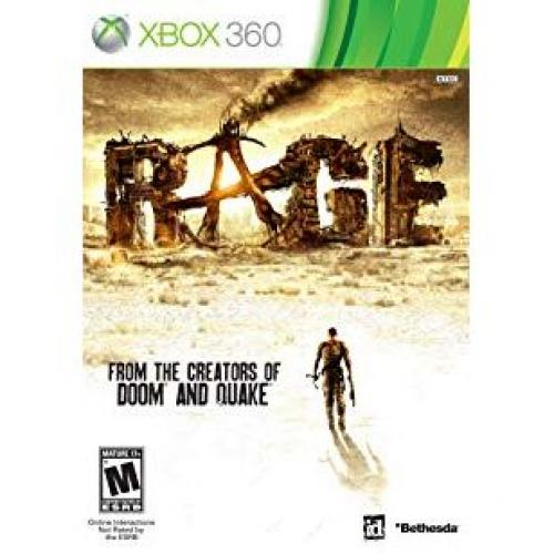 Rage Xbox 360 (backwards compatibility) - For Xbox 360 - ESRB Rated M (Mature 17+) - Intense Action - FPS (first person shooter) game - Multi/single player